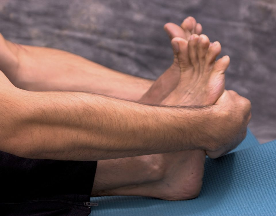 stretching the feet